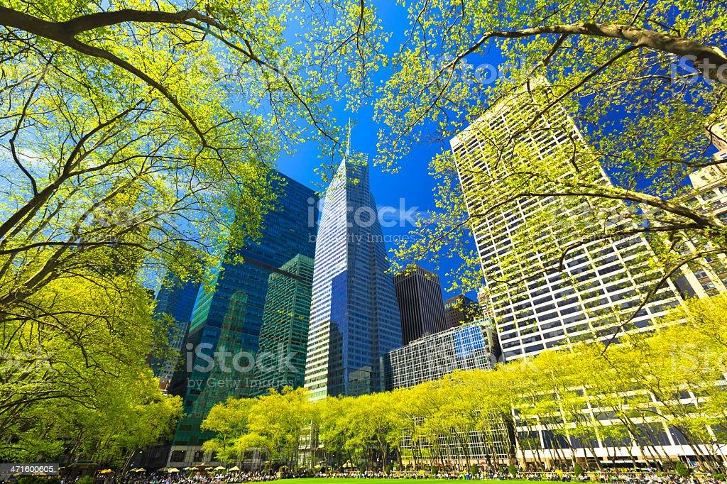 Bryant Park in Midtown Manhattan, NYC stock photo