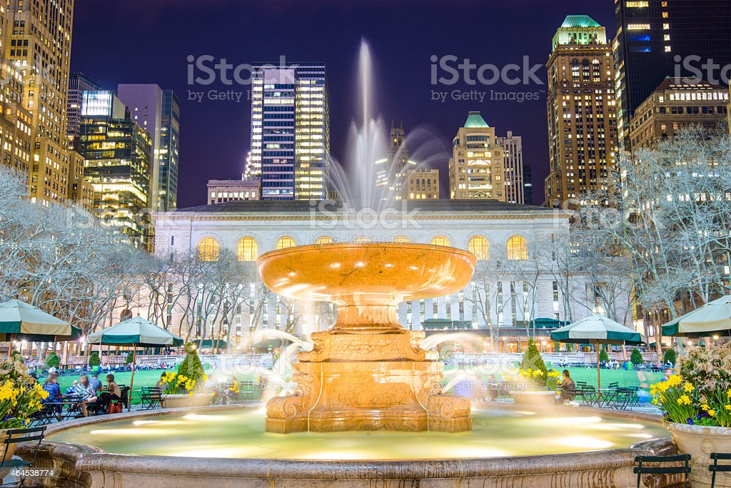 Bryant Park New York City stock photo