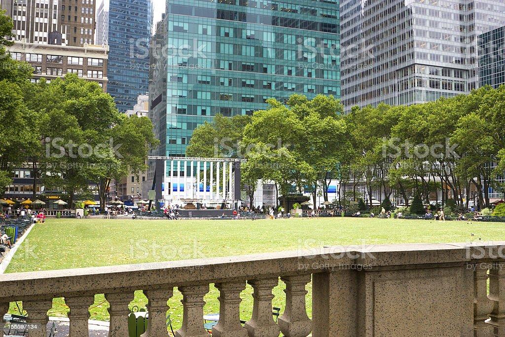 Bryant Park, New York royalty-free stock photo