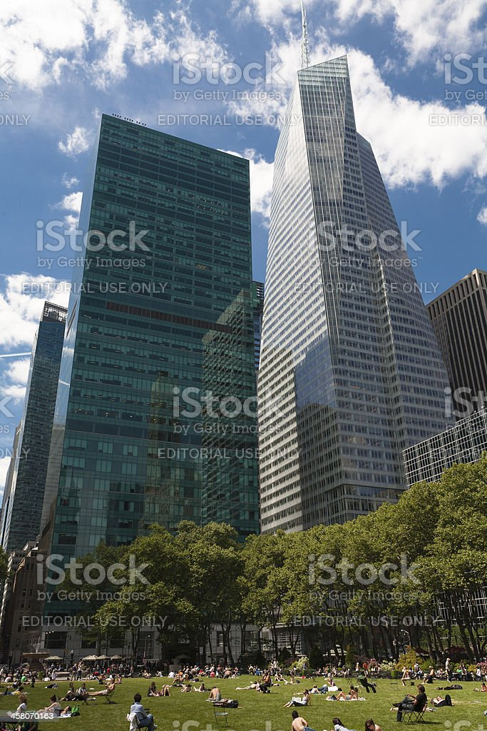 Bryant Park, New York stock photo
