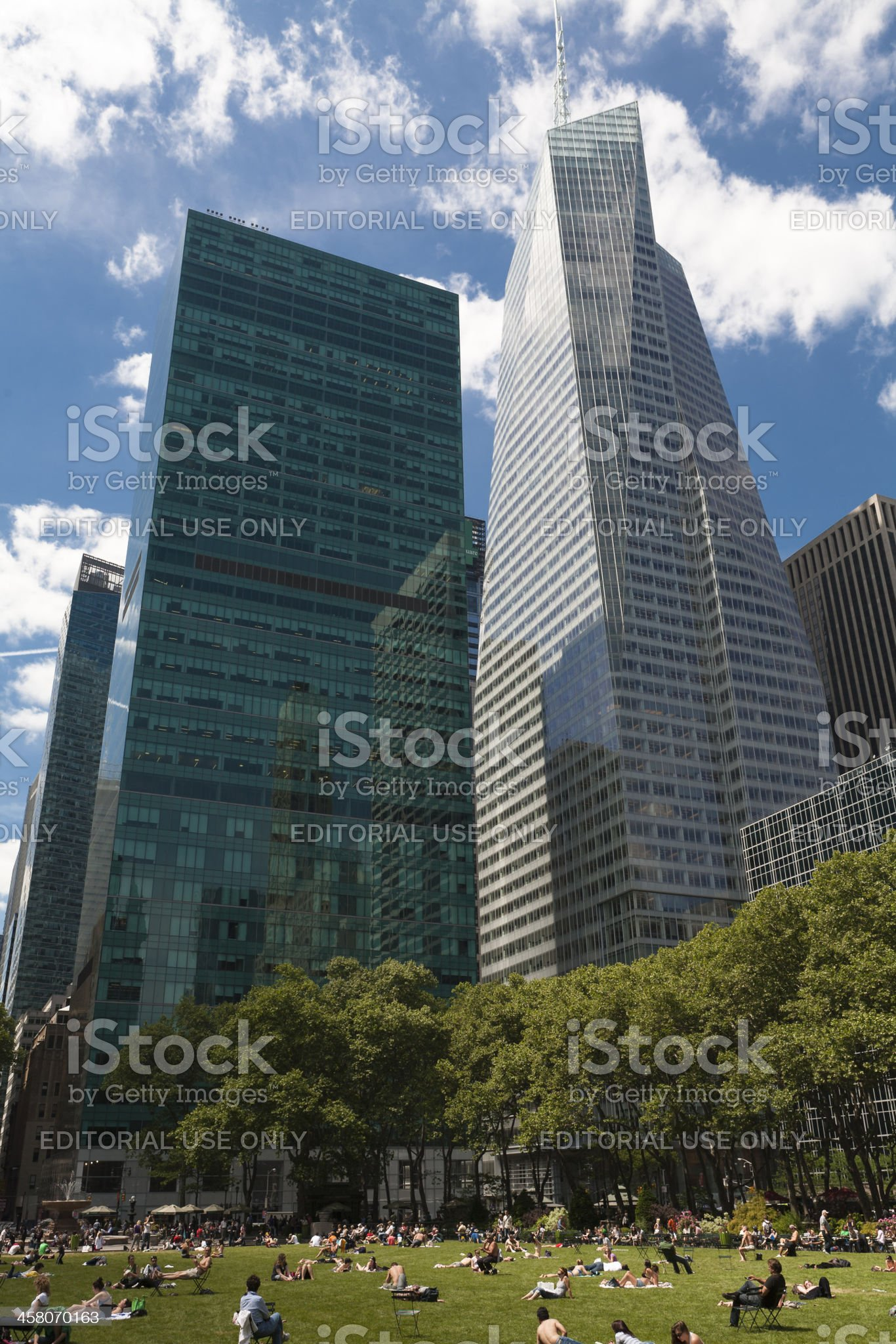 Bryant Park, New York royalty-free stock photo