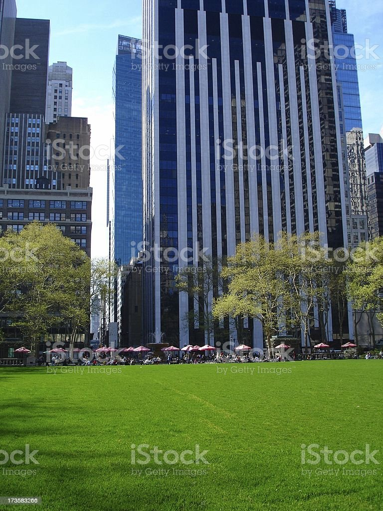 Bryant Park, NYC stock photo