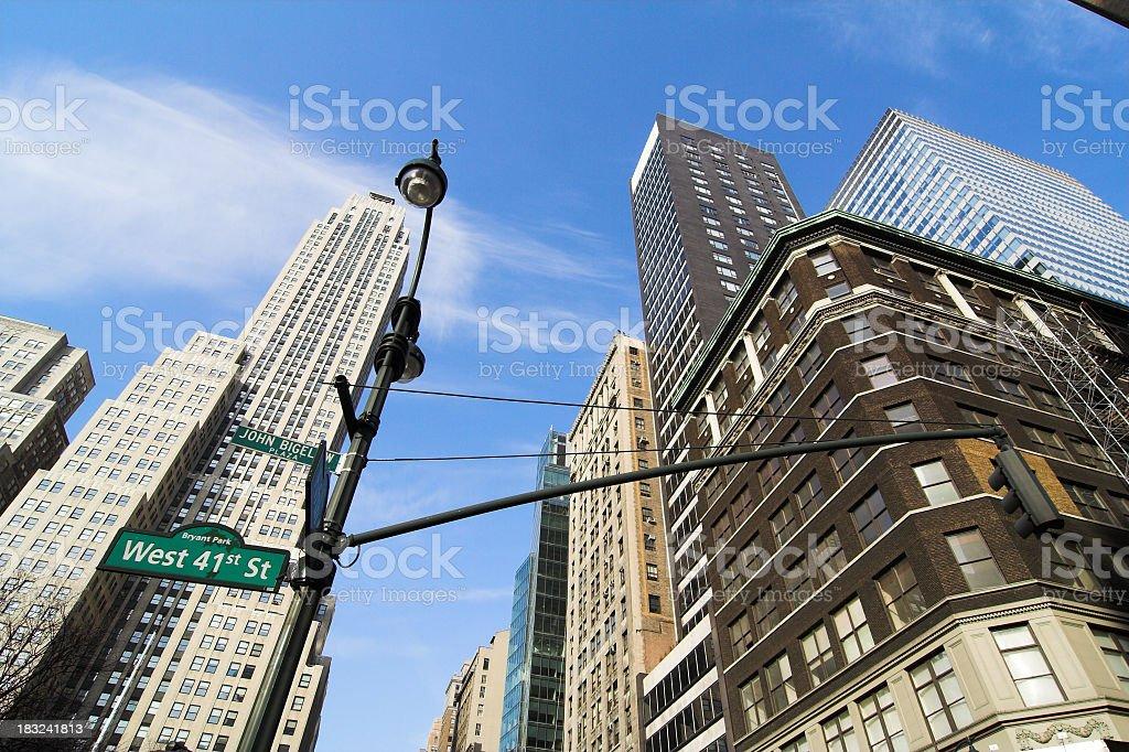 Bryant Park Skyscrapers. stock photo