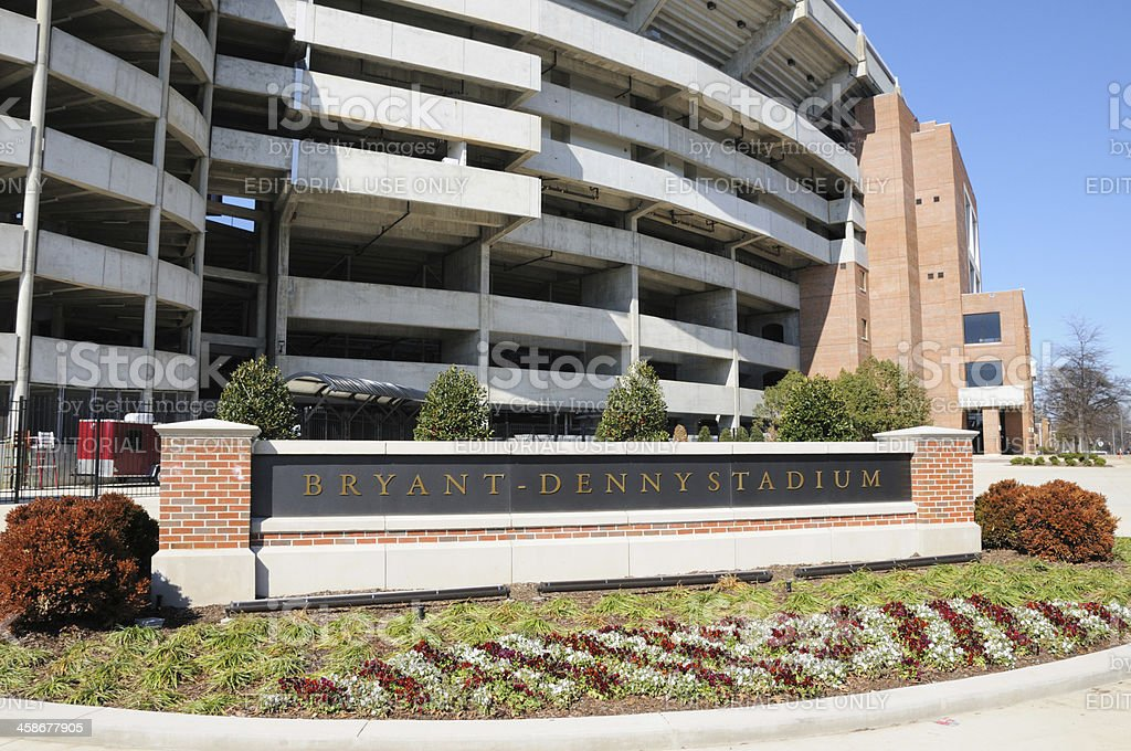 Bryant-Denny Stadium Sign horizontal stock photo