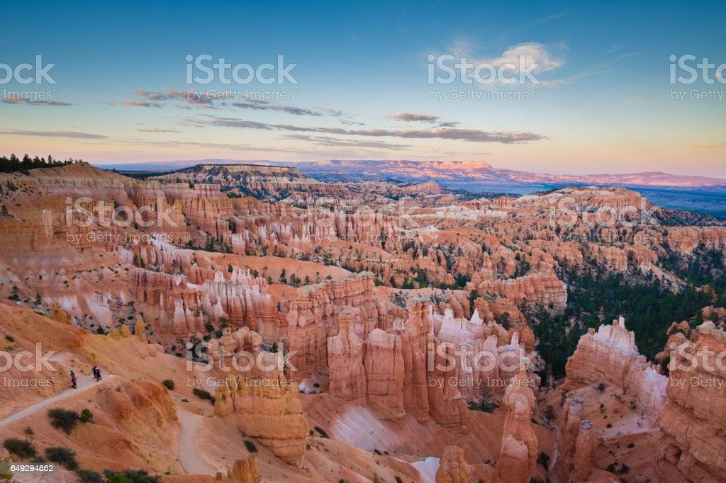 Bryce Canyon at sunset, Utah, USA stock photo