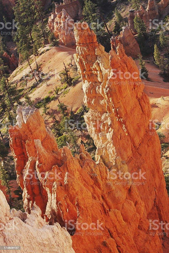 Bryce Canyon Eroded Rock Hoodoo stock photo