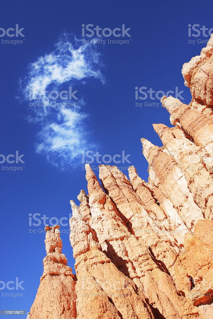 Bryce Canyon Hoodoo Badlands Rock Cliff royalty-free stock photo