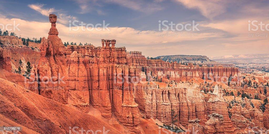 Bryce Canyon hoodoo landscape stock photo