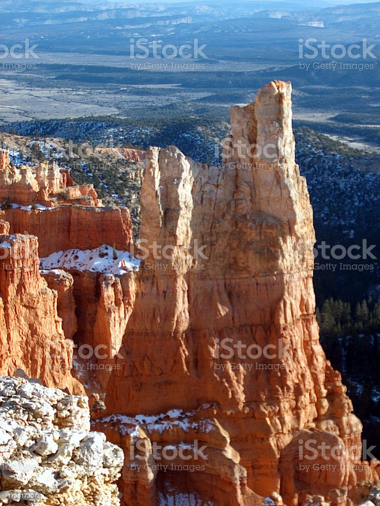 Bryce Canyon in Winter stock photo