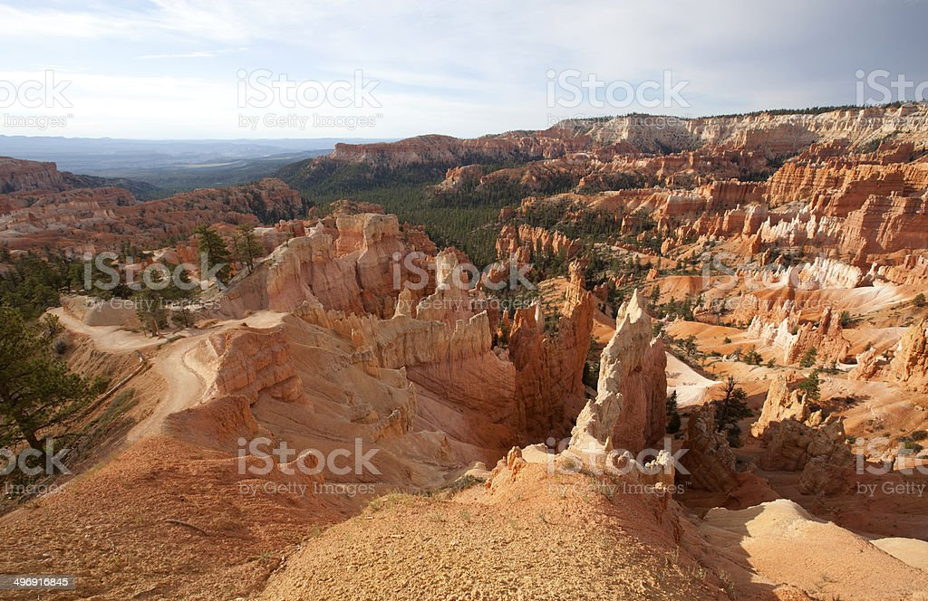 Bryce Canyon National Park : Amphitheatre from Queens Garden royalty-free stock photo