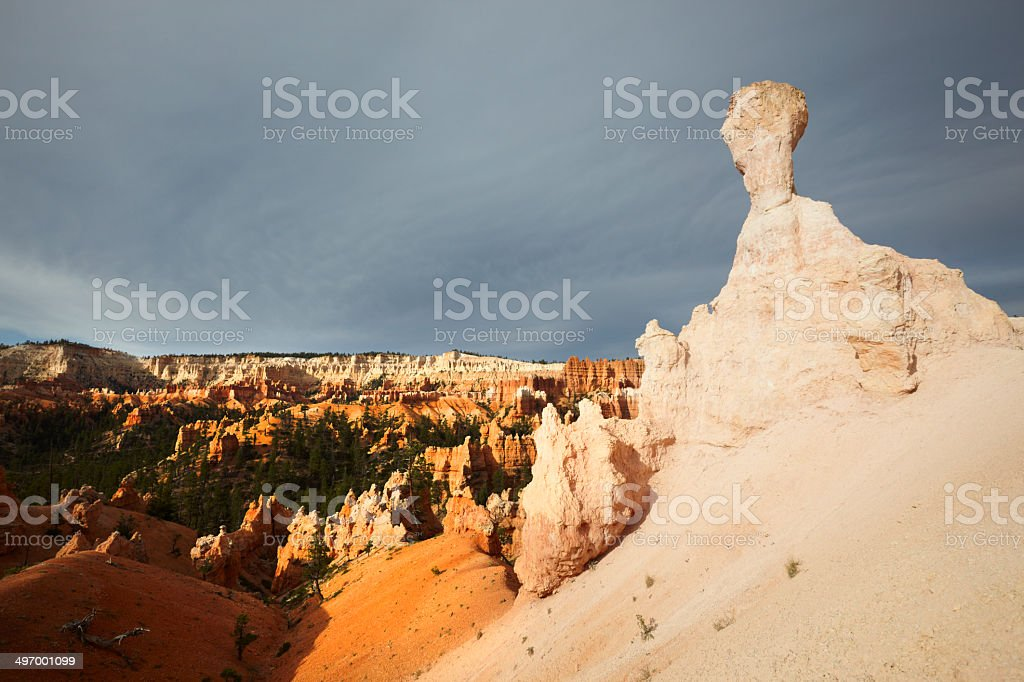 Bryce Canyon National Park : Queen Victoria and the Amphitheatre stock photo