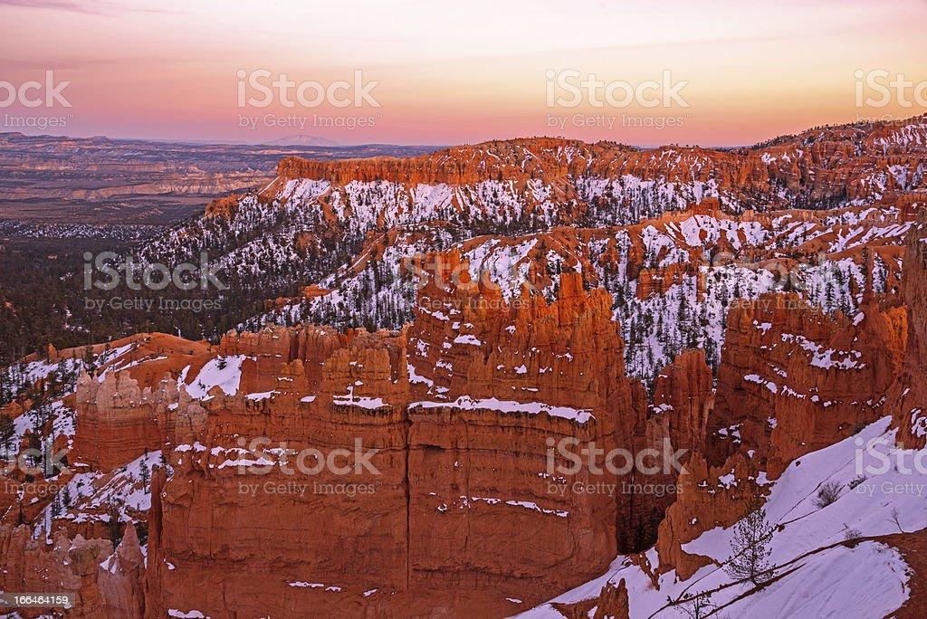 Bryce Canyon National Park Utah at sunset royalty-free stock photo