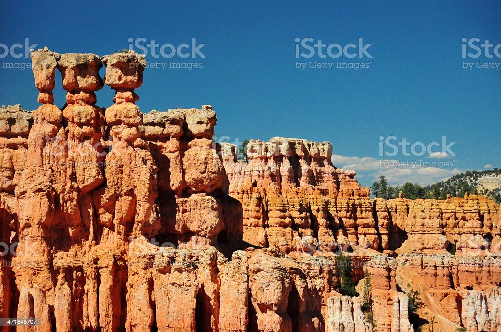 Bryce Canyon National Park, Utah, USA: three hoodoos stock photo