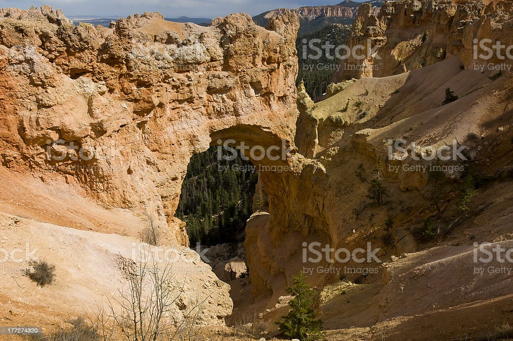 Bryce Canyon Natural Arch stock photo