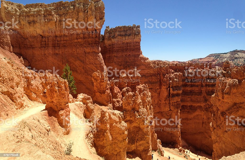 Bryce Canyon on a sunny day stock photo