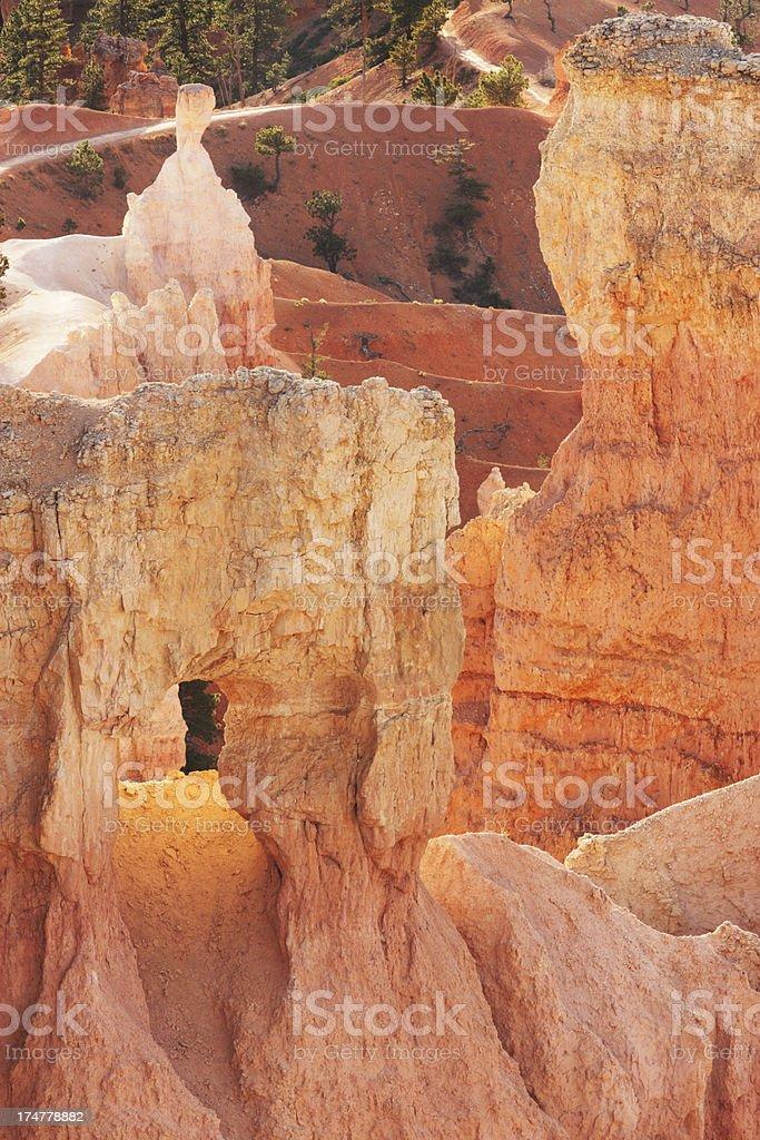 Bryce Canyon Rock Hoodoo Arch Erosion stock photo
