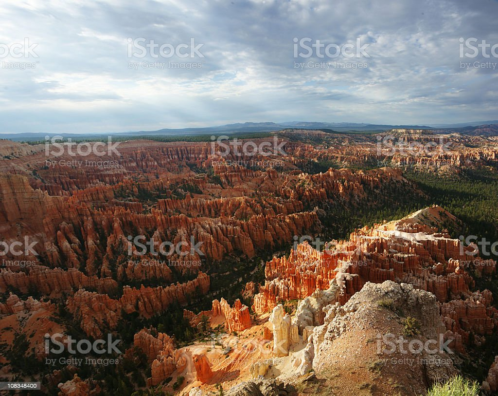 Bryce Canyon Stormy Sunset Square Pano royalty-free stock photo