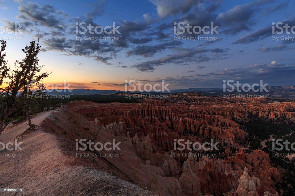 Bryce canyon - sunset panorama stock photo