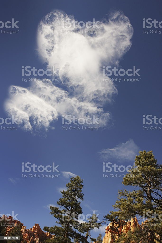 Bryce Canyon Wilderness Cloud Formation royalty-free stock photo