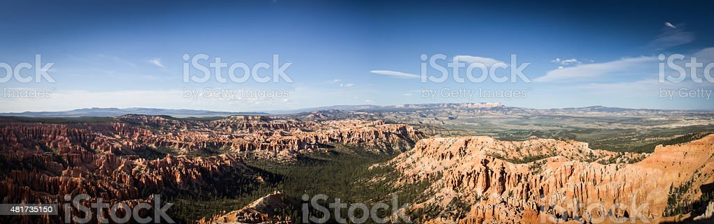 Bryce Point Panorama stock photo