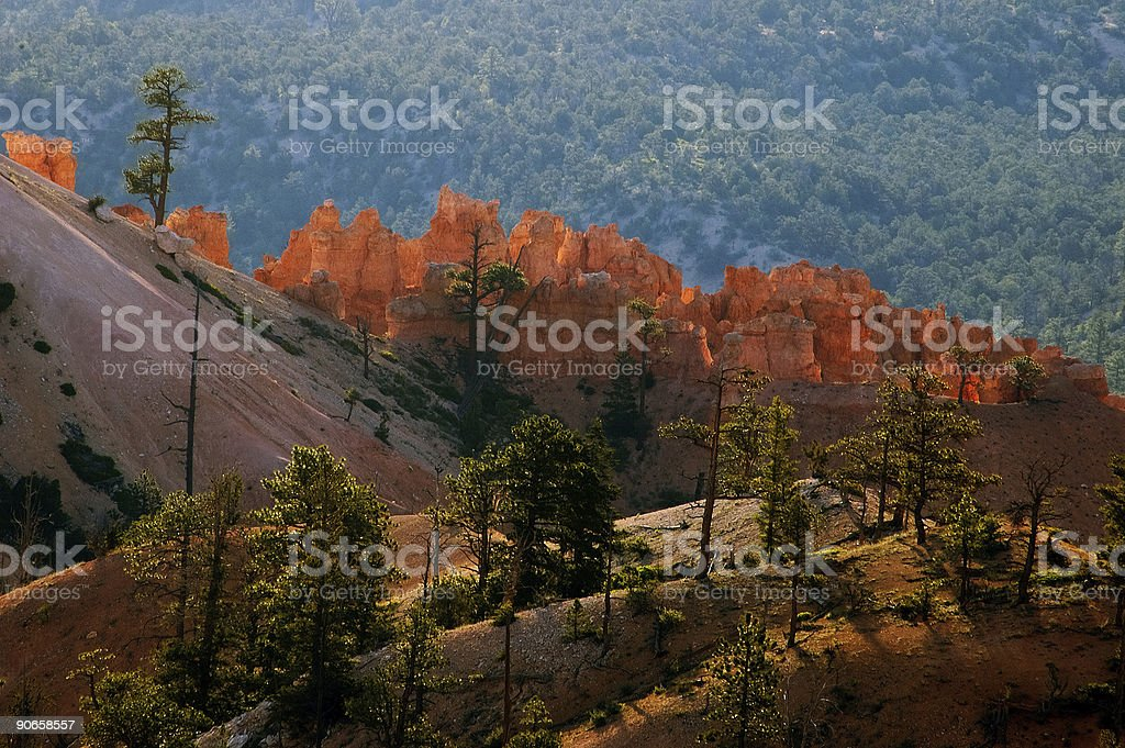 Bryce Point view at sunrise royalty-free stock photo