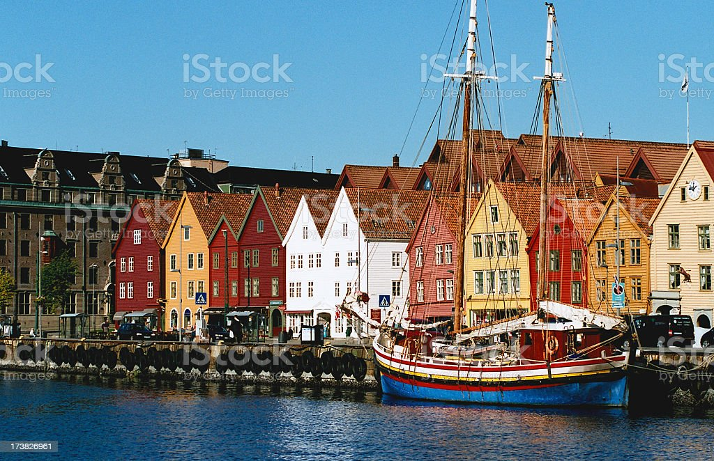 Bryggen - Bergen, Norway stock photo