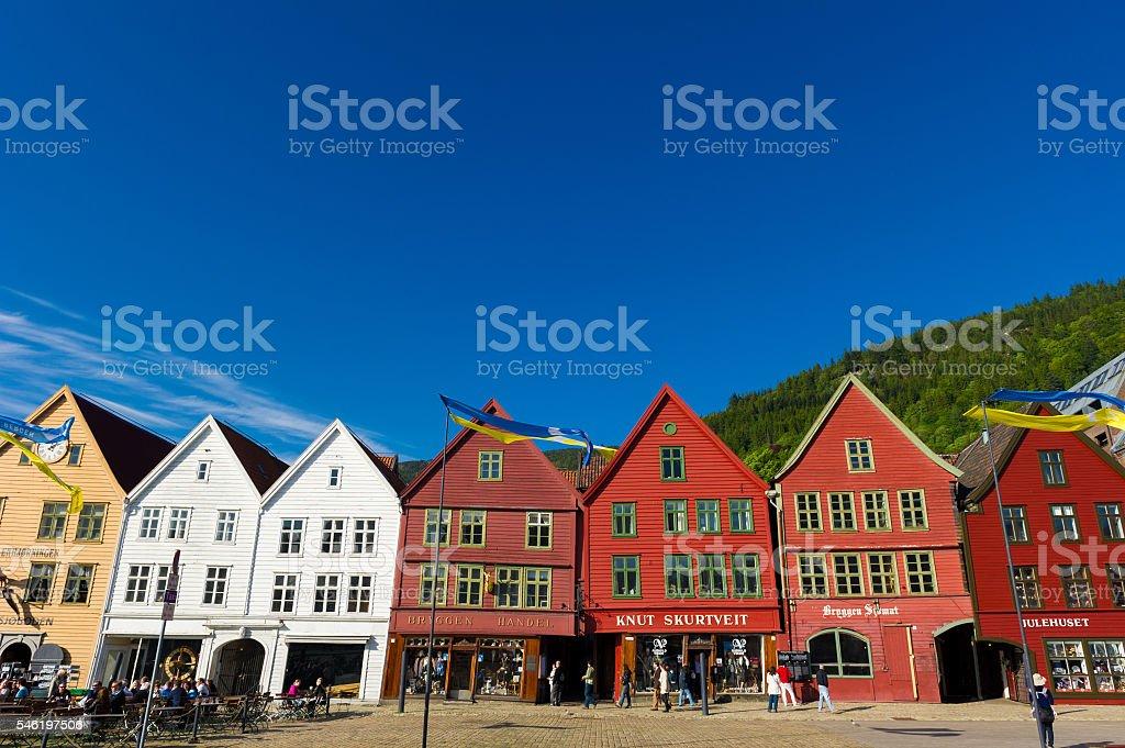 Bryggen, Bergen, Norway stock photo