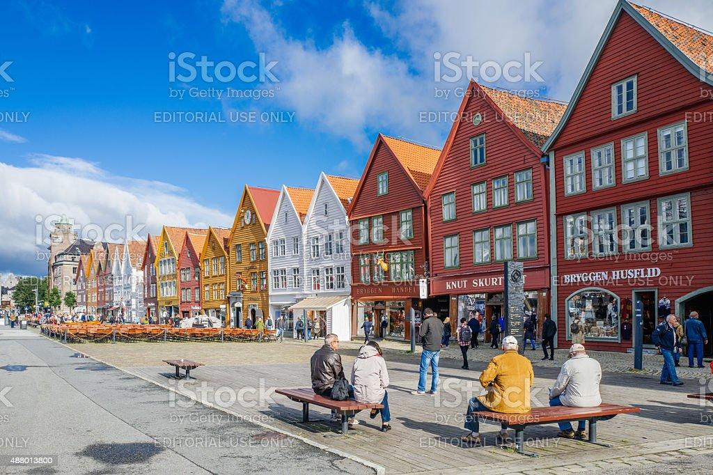 Bryggen in Bergen, Norway stock photo