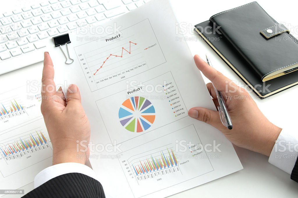 Bsusiness concepts, check for business chart stock photo