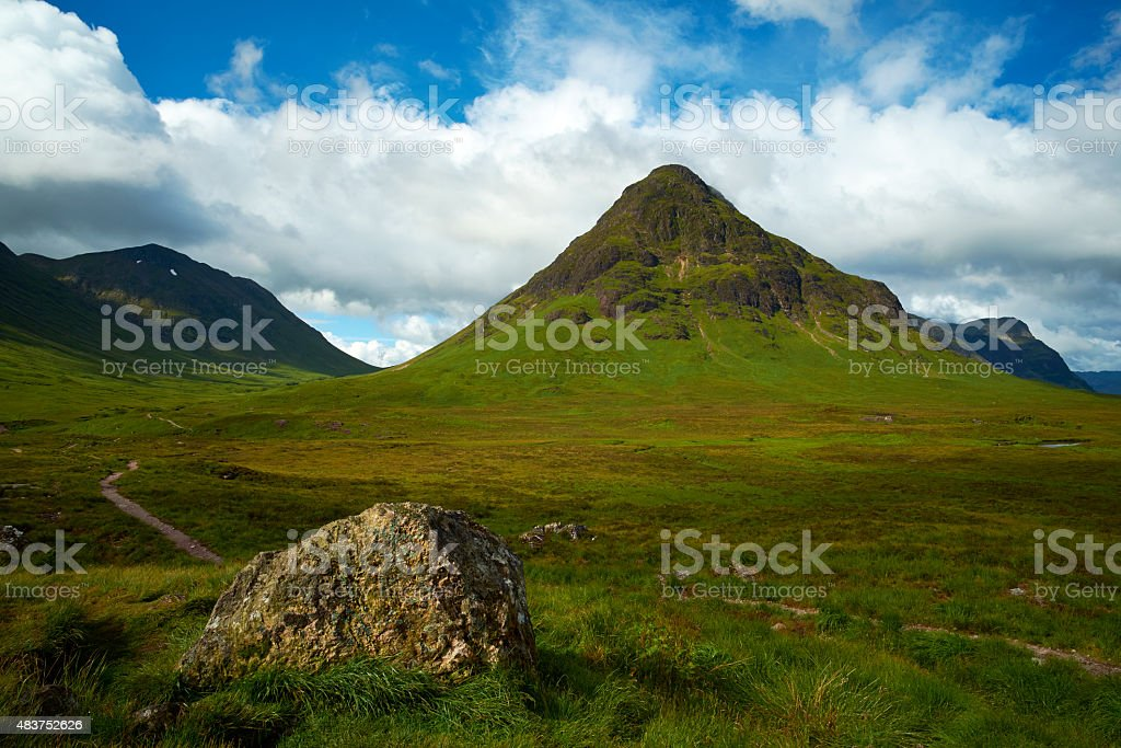 Buachaille Etive Mor Footpath stock photo