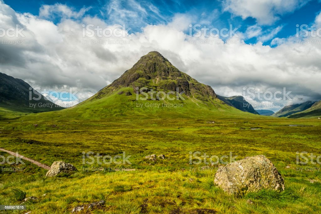Buachaille Etive Mor Scotland Glen Coe stock photo