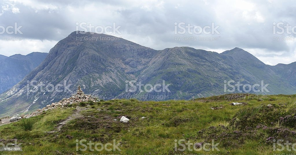 Buachaille Etive Mór in cloudy ambiance royalty-free stock photo