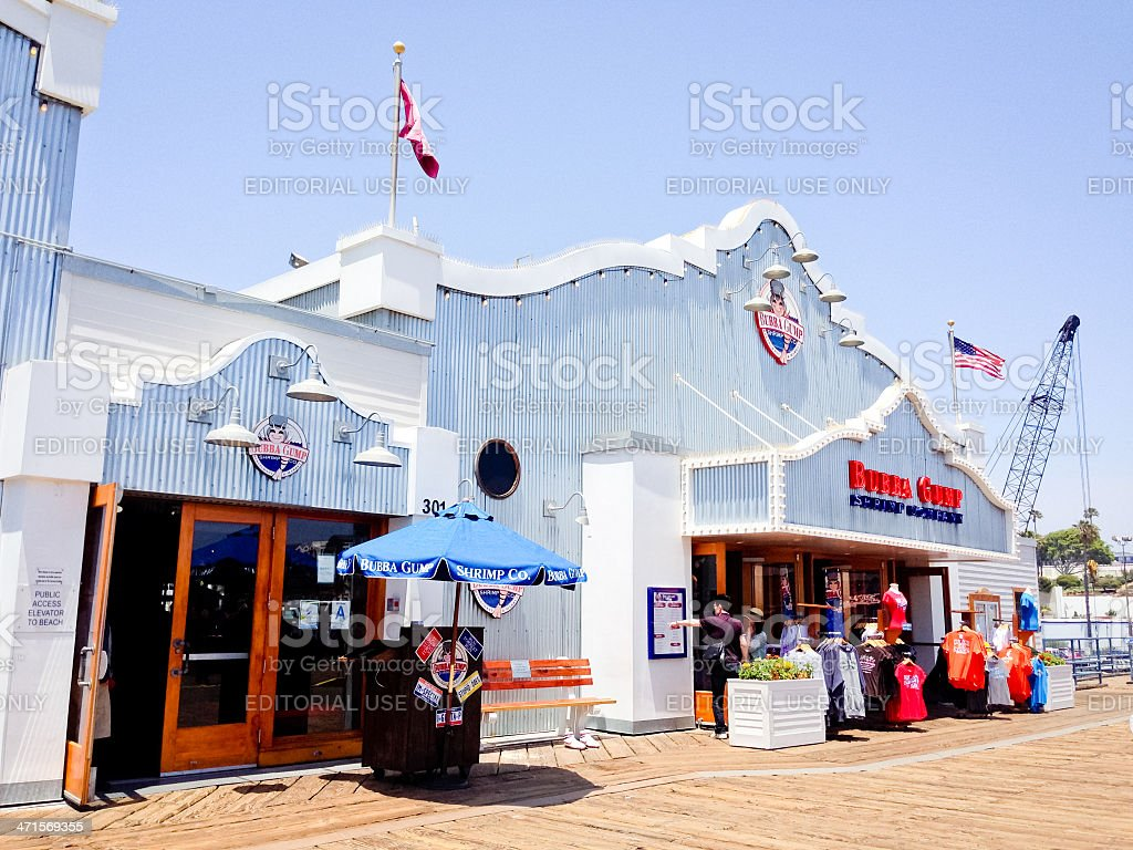 Bubba Gump Shrimp Company on Santa Monica Pier royalty-free stock photo