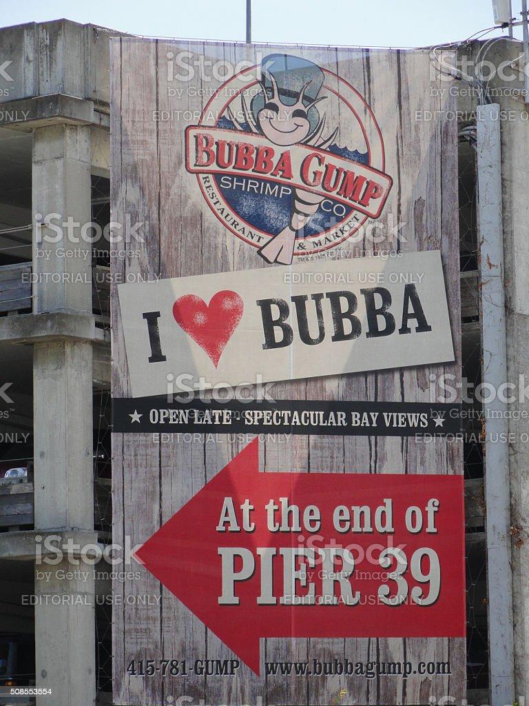 Bubba Gump Shrimp Restaurant Sign stock photo