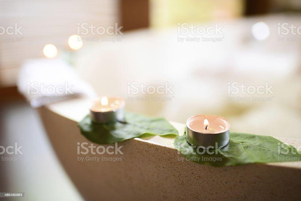 Bubble Bath and Spa stock photo