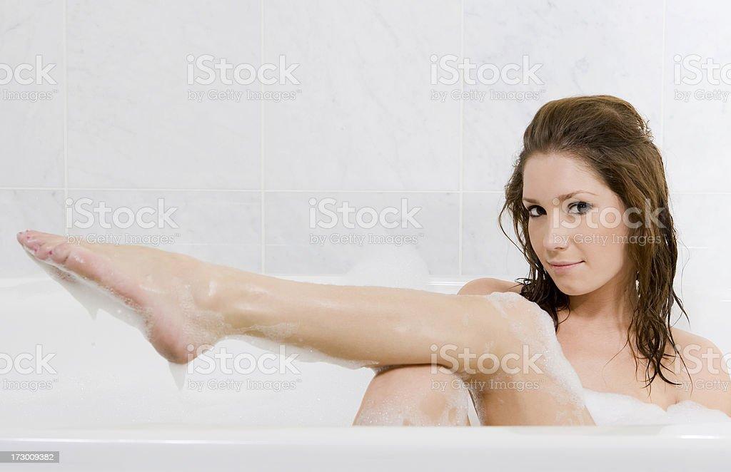 Bubble Bath Beauty royalty-free stock photo