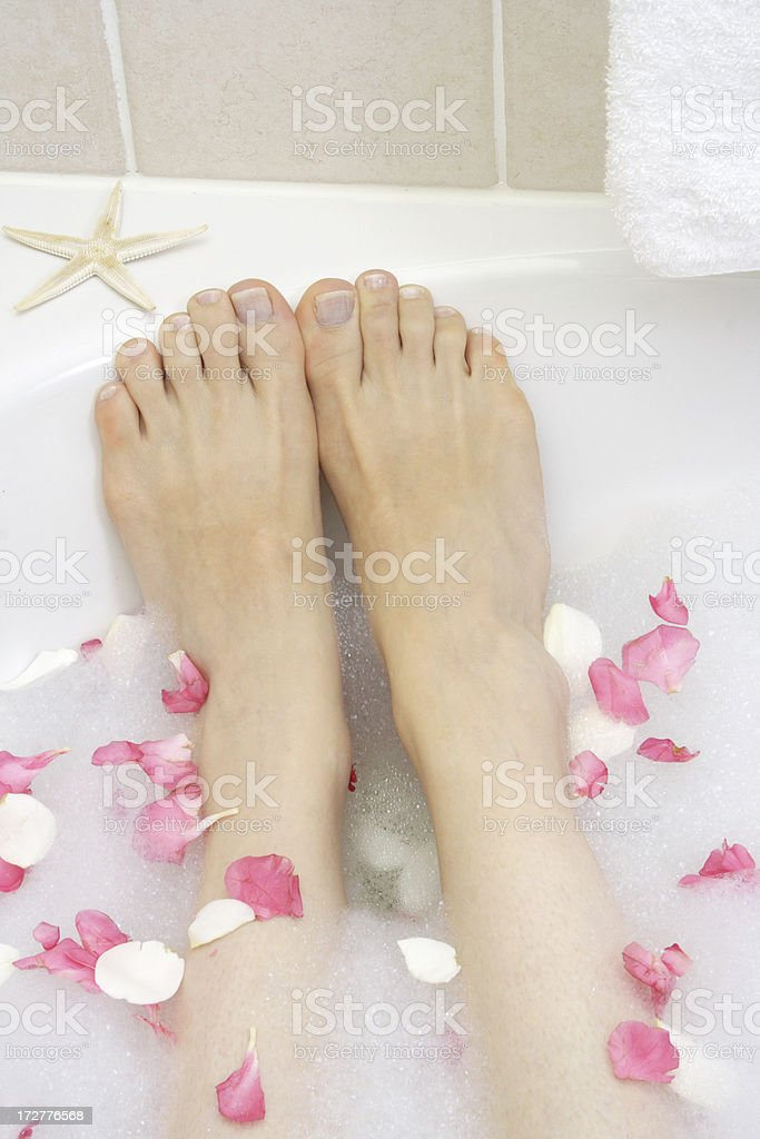 bubble bath star stock photo