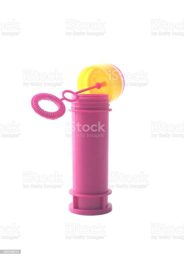 Bubble blower stock photo