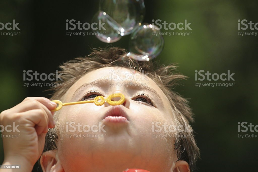 Bubble Boy 3 royalty-free stock photo