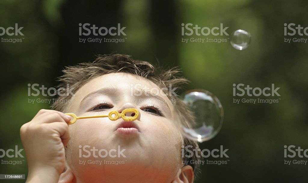 Bubble boy 4 royalty-free stock photo
