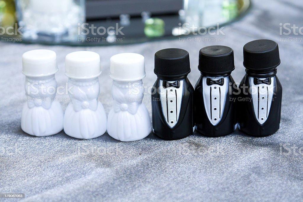 Bubble Bridal Party royalty-free stock photo