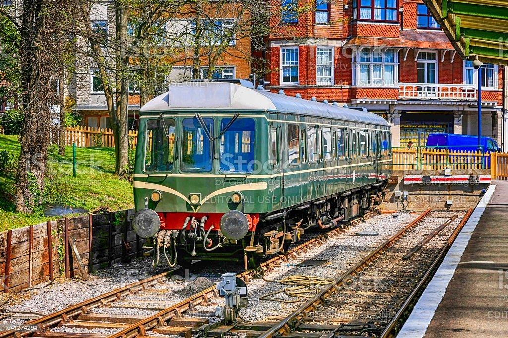 Bubble Car Class 121 British Rail vintage locomotive stock photo