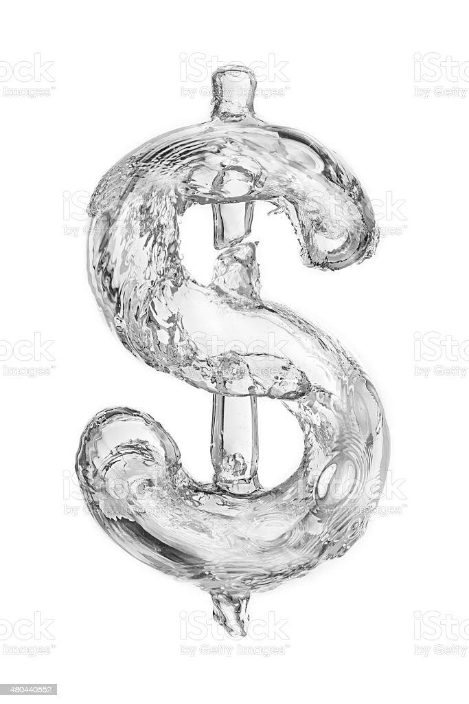 Bubble dollar stock photo