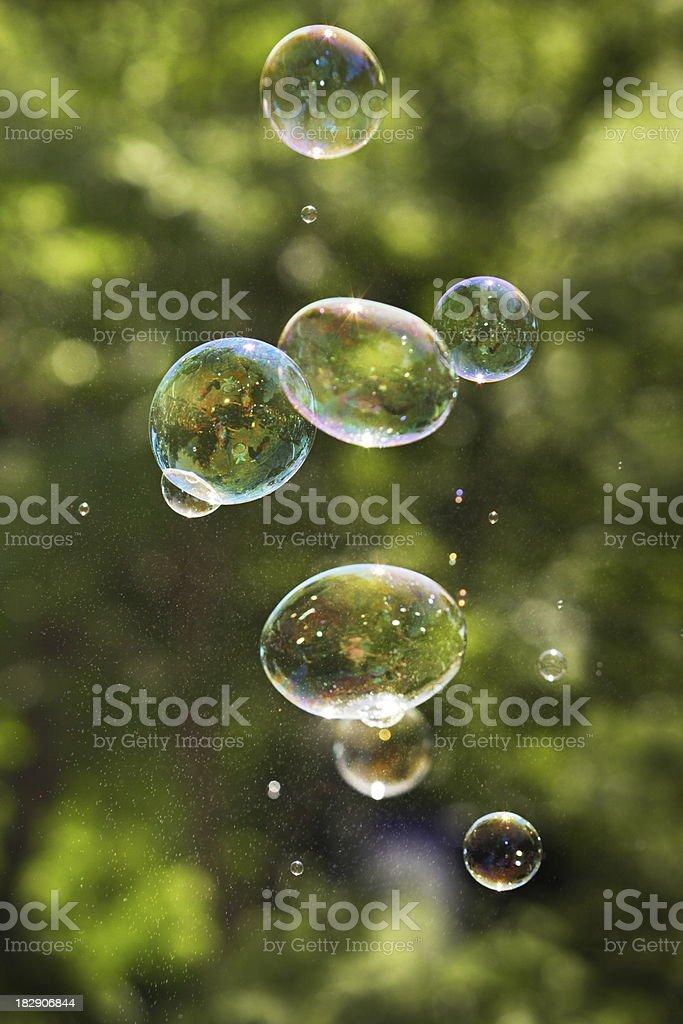 Bubble Floating Bursting Spraying royalty-free stock photo