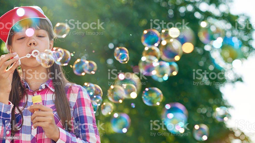 Bubble fun stock photo