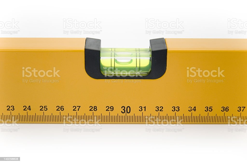 Bubble glass fpr measuring in building industry stock photo