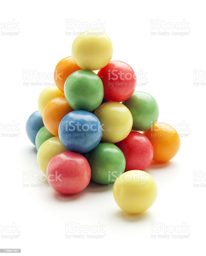 bubble gum balls stock photo