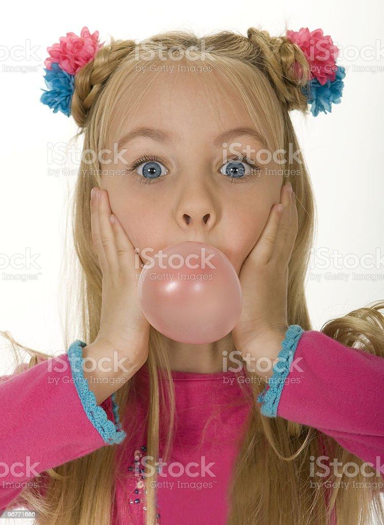 Bubble Gum Girls royalty-free stock photo