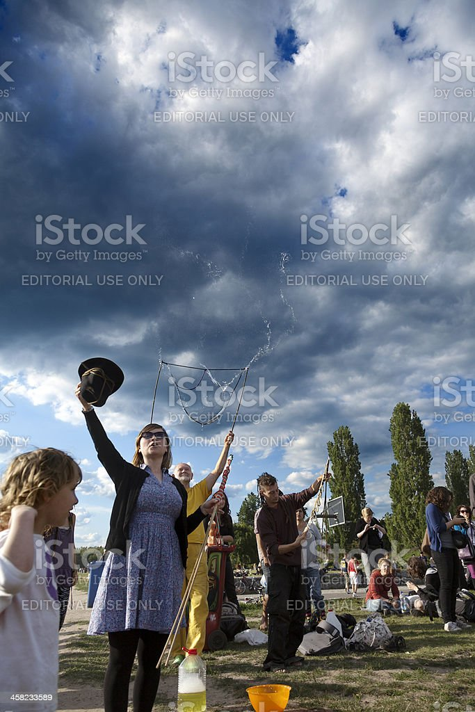Bubble Makers Request Payment royalty-free stock photo