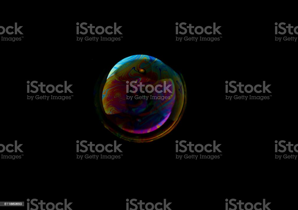 Bubble on black stock photo